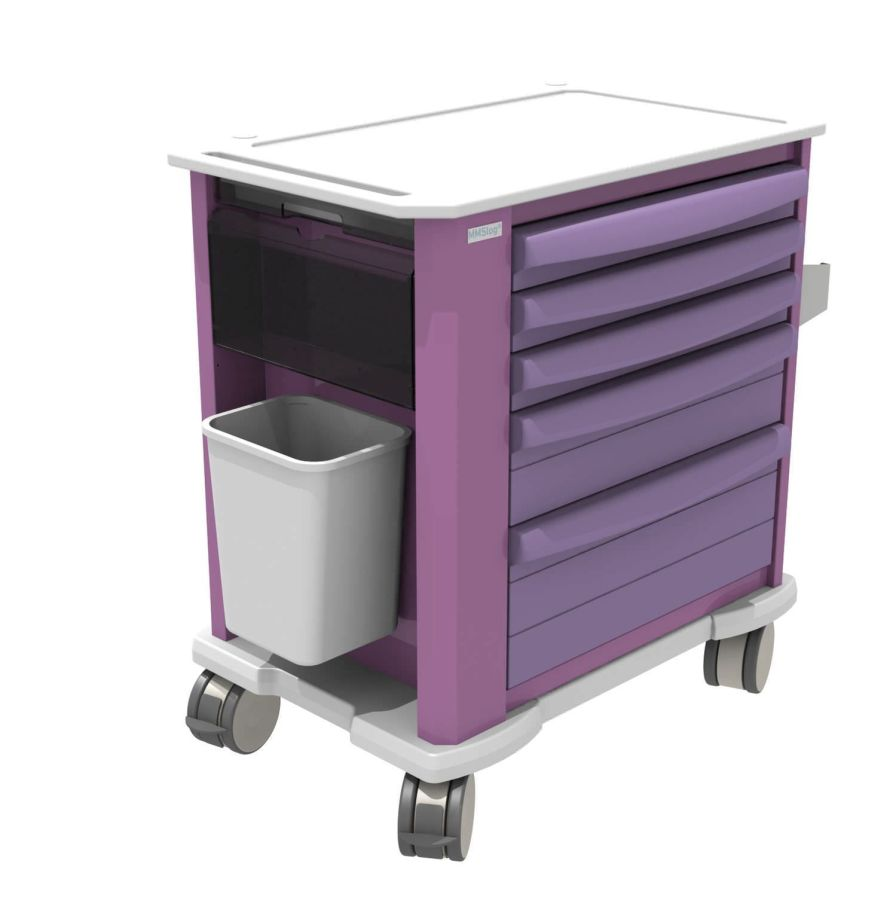 Multi-function trolley / with drawer MMSlog® MEDICAL MODULAR SYSTEM S.A. (MMS)