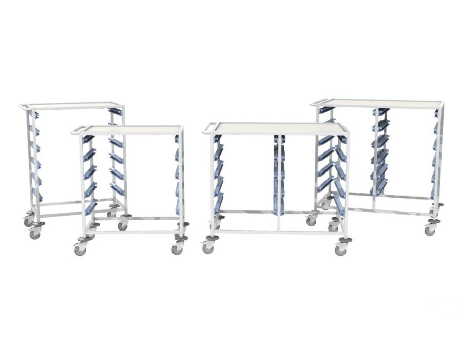 Multi-function trolley / open-structure / modular MEDICAL MODULAR SYSTEM S.A. (MMS)