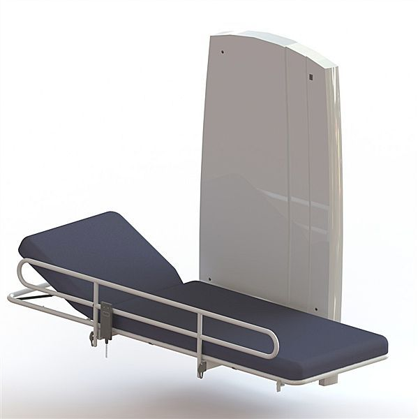 Electrical examination table / height-adjustable / 2-section / wall-mounted 65005015 Lopital Nederland
