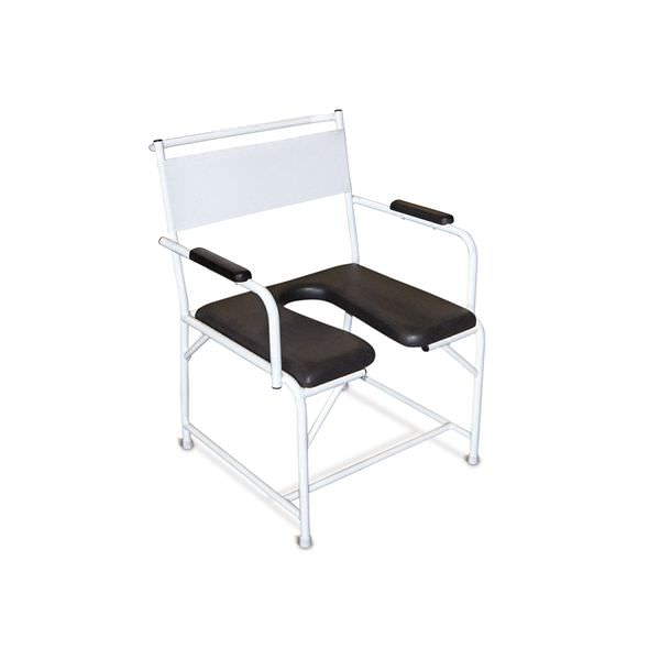 Shower chair / with cutout seat / on casters / bariatric Heavy Duty Lopital Nederland