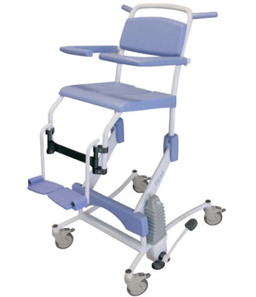 Shower chair / hydraulic / height-adjustable Flexo Lopital Nederland