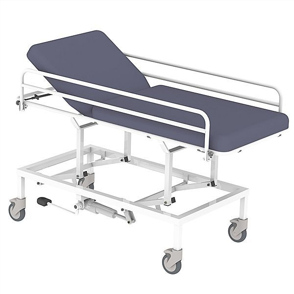 Hydraulic examination table / height-adjustable / on casters / 2-section 65004020 Lopital Nederland