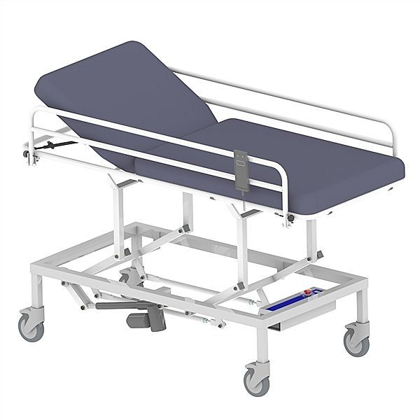 Electrical examination table / on casters / height-adjustable / 2-section 65004021 Lopital Nederland