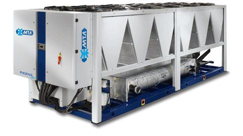 Air-cooled water chiller / for healthcare facilities 320 - 1233 kw | PHOENIX M.T.A. S.p.A.