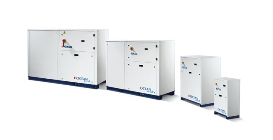 Water/water heat pump / reversible 4.5 - 200 kw | OCEAN tech M.T.A. S.p.A.