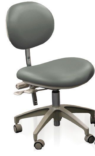 Dental stool / height-adjustable / with adjustable backrest / on casters DC5140, DC5040 Marus