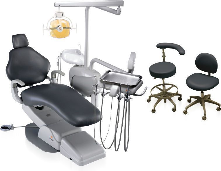 Dental treatment unit with lamp / with delivery system / with hydraulic chair MaxStar Asepsis Marus