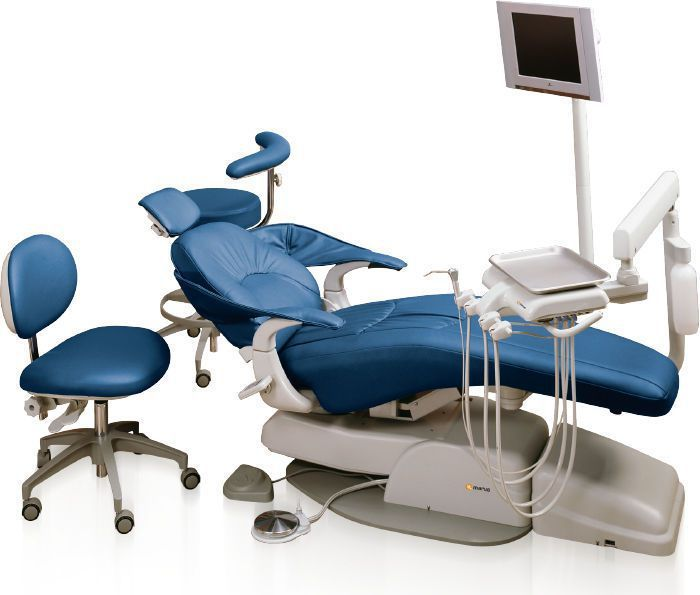 Dental treatment unit with hydraulic chair / with delivery system / with monitor MaxStar Orbit Marus