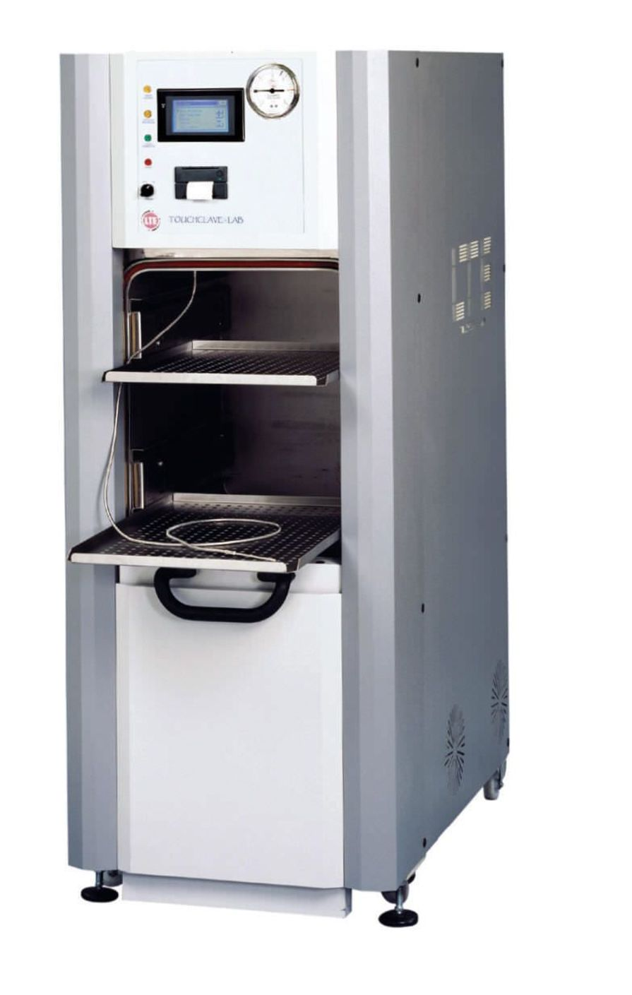 Medical autoclave / vertical / with sliding door TOUCHCLAVE-LAB F SERIES LTE Scientific