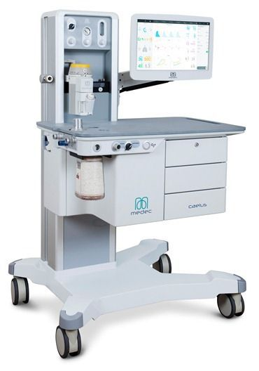 Anesthesia workstation with electronic gas mixer Caelus Medec Benelux