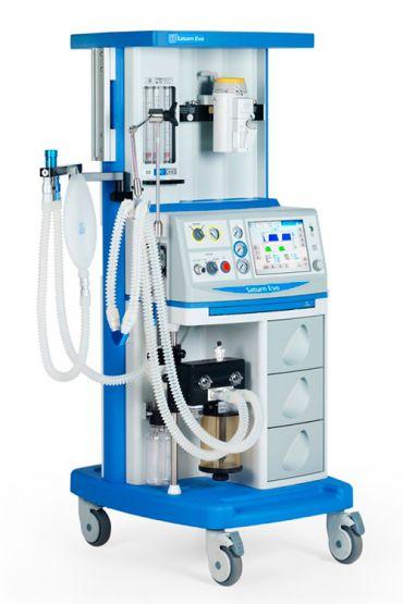 Anesthesia workstation with gas blender Saturn Evo Color Medec Benelux