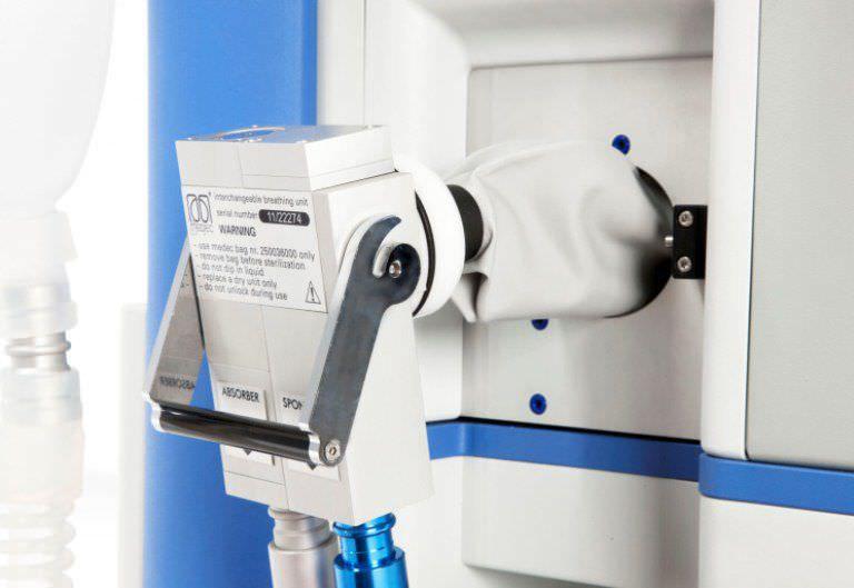Anesthesia workstation with gas blender Saturn Evo Standard Medec Benelux