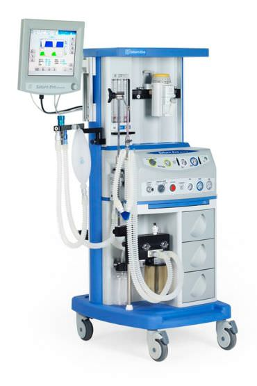 Anesthesia workstation with electronic gas mixer Saturn Evo Advanced Medec Benelux