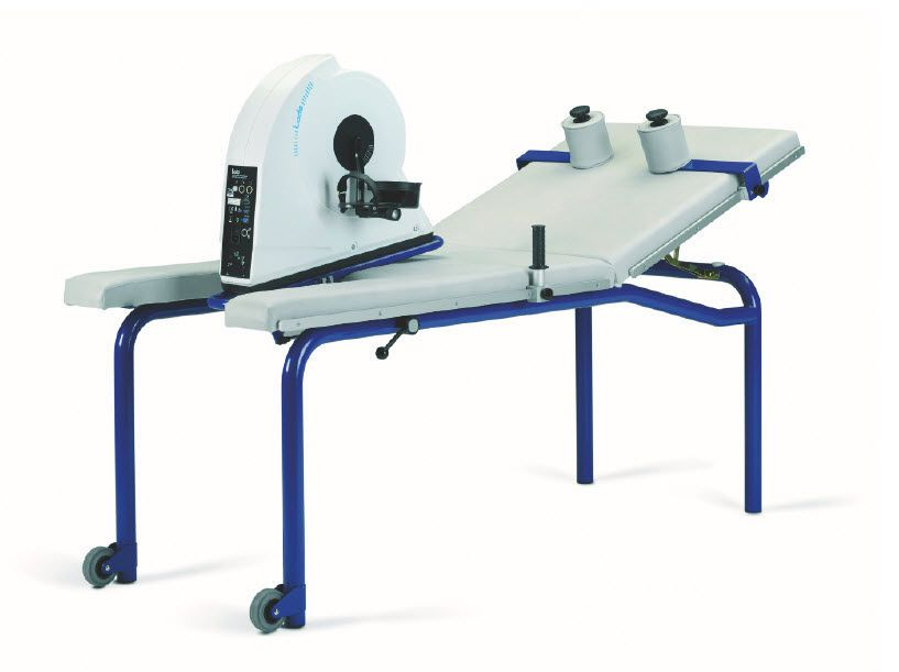 Electrical examination table / on casters / reclining / 2-section Corival Supine Lode
