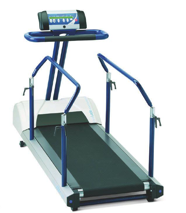 Treadmill ergometer with handrails 0.1 - 12 km/h | Valiant Rehab Lode