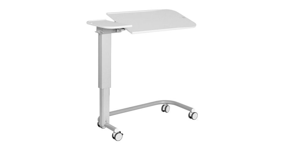 Overbed table / on casters / height-adjustable / reclining Solido 2 LINET