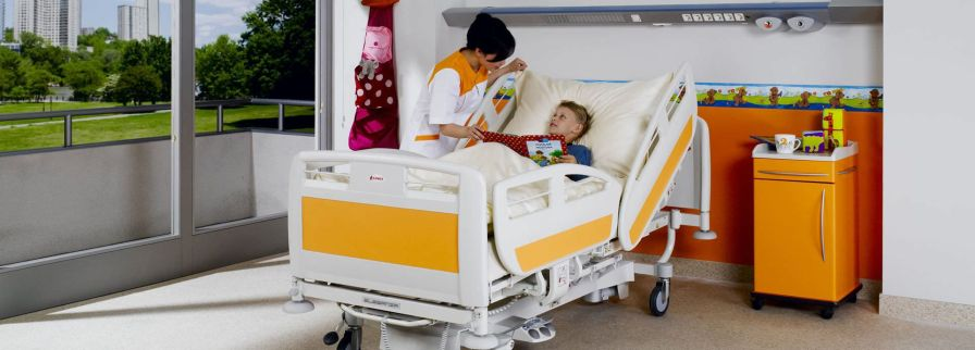 Intensive care bed / electrical / height-adjustable / pediatric Eleganza Smart with Junior Kit LINET