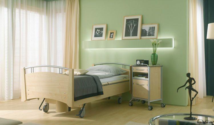 Nursing home bed / electrical / on casters / height-adjustable Estetica Nova LINET