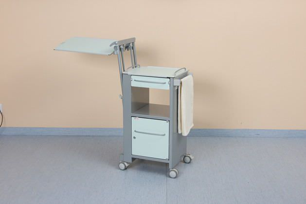 Bedside table / on casters / with over-bed tray Eleganza Classic LINET