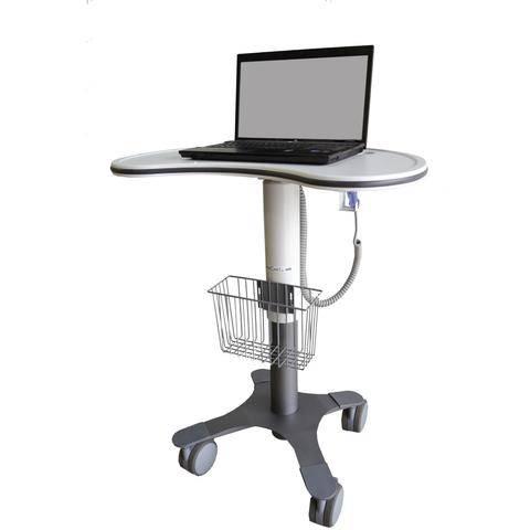DataCart by Lund - DCT-1KLT - Large Kidney Shaped Work-surface Cart, Laptop Cart
