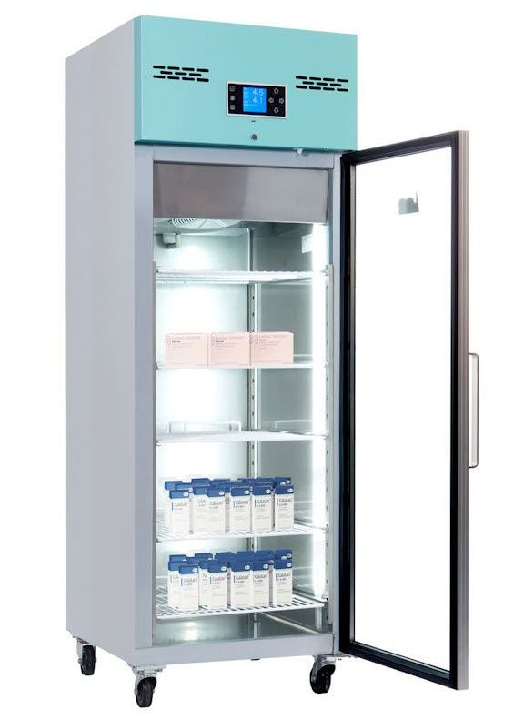 Pharmacy refrigerator / cabinet / 1-door 2 °C ... 8 ° C, 600 L   PGR600UK Lec Medical
