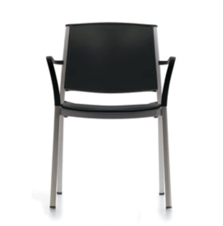 Waiting room chair / with backrest / with armrests Corfu Krug