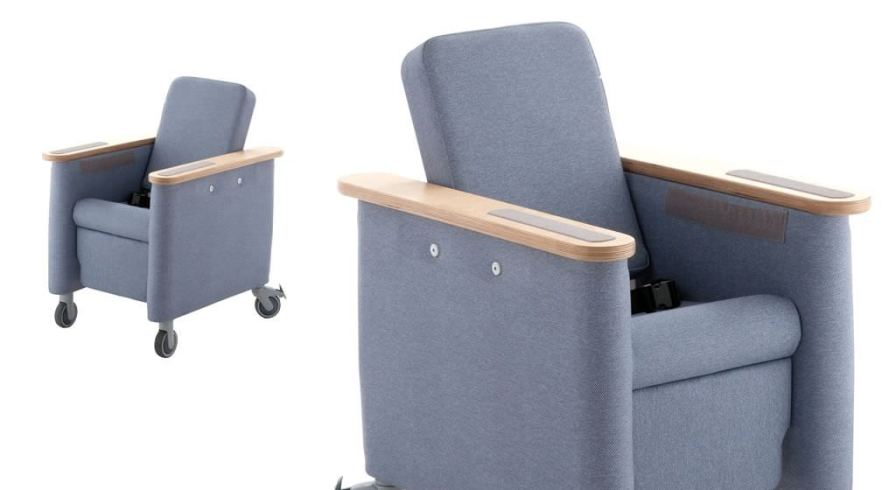 Reclining medical sleeper chair / on casters / pediatric Leckey