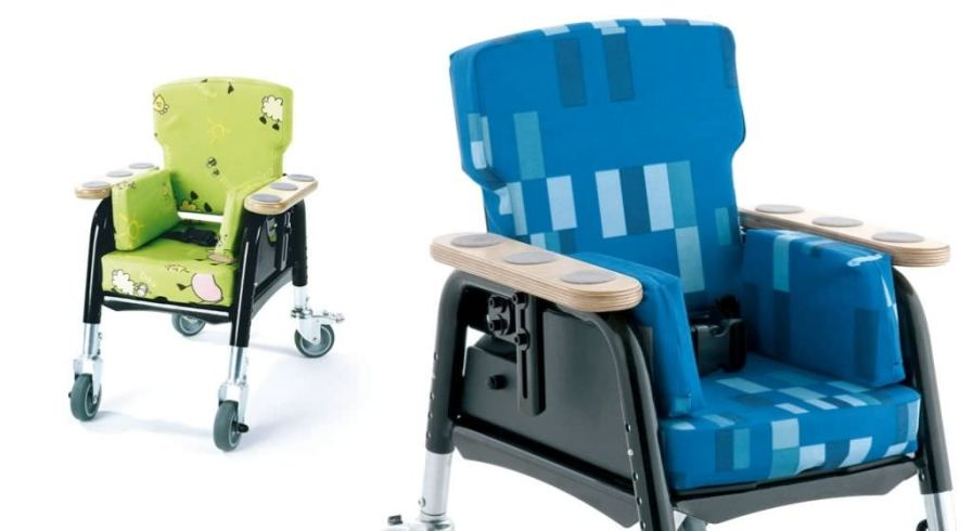 Reclining medical sleeper chair / on casters / pediatric Easy Seat Leckey