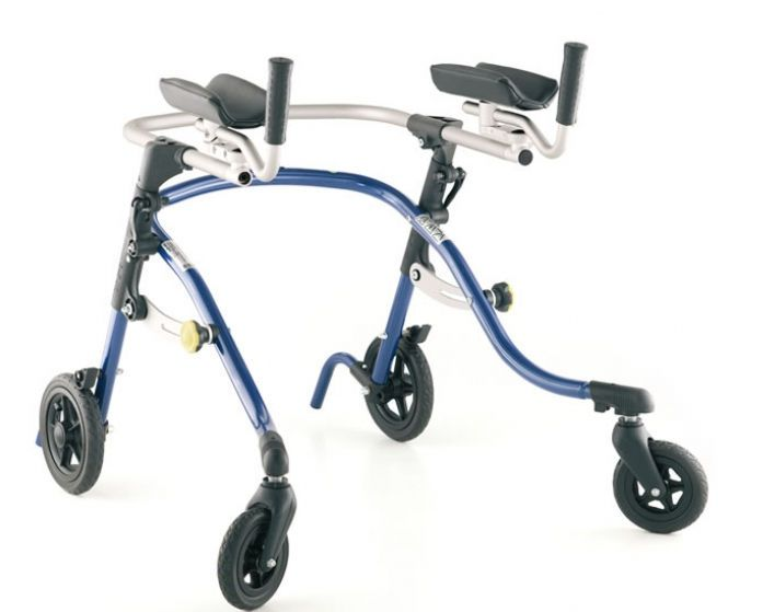 4-caster rollator / folding / pediatric / height-adjustable Nurmi Neo Leckey