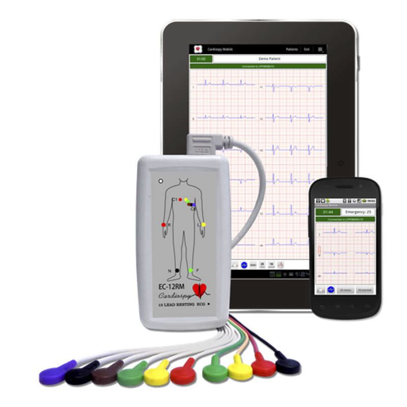 Wireless electrocardiograph / resting / smartphone-based / 12-channel EC-12RM Labtech Ltd.