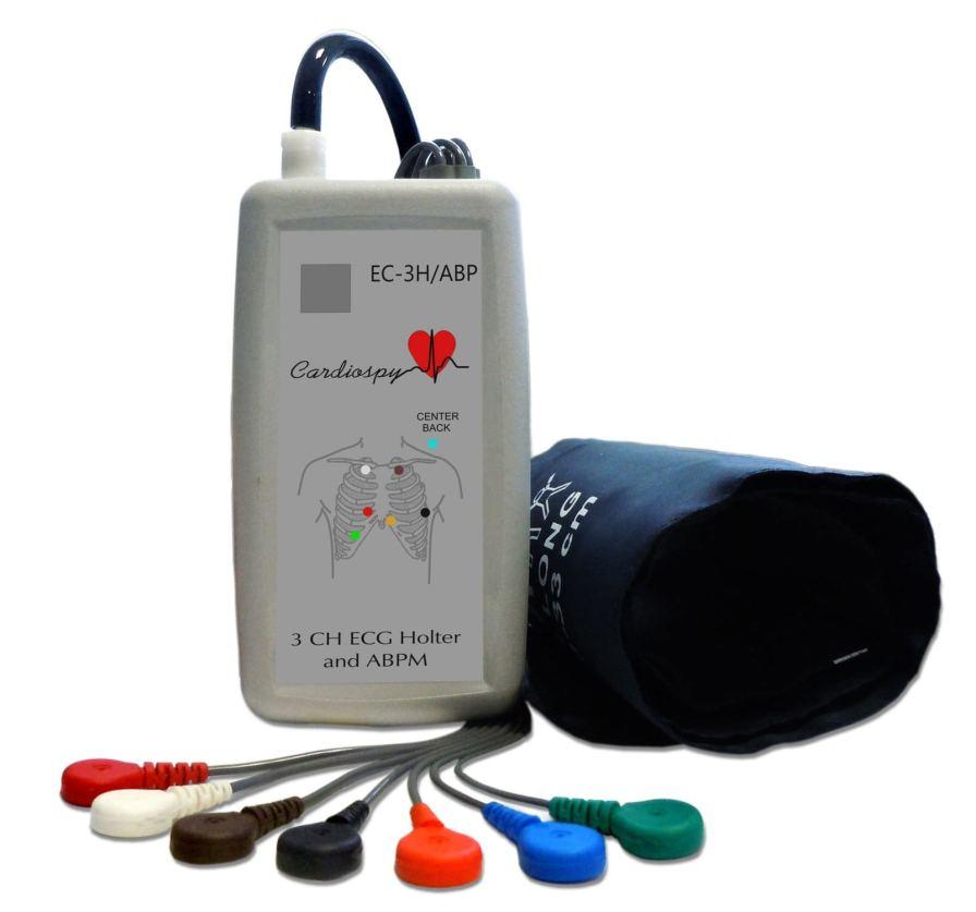 ABPM patient monitor / ECG / handheld / ambulatory EC-3H/ABP Labtech Ltd.