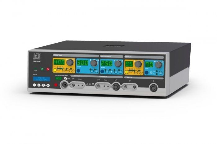 Bipolar coagulation HF electrosurgical unit / monopolar cutting / bipolar cutting / monopolar coagulation SURTRON 400 HP LED