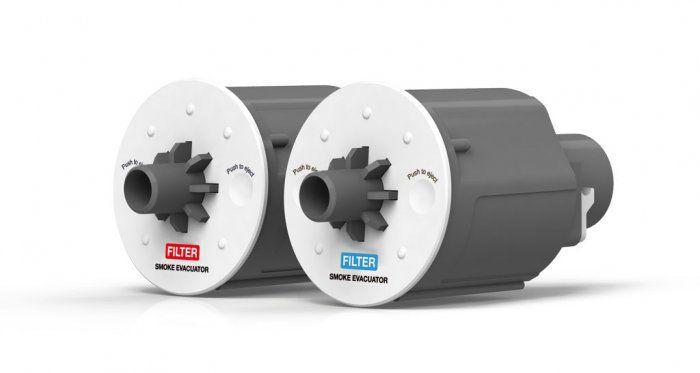 Smoke evacuation system for electrosurgical units SURTRON® EVAC LED