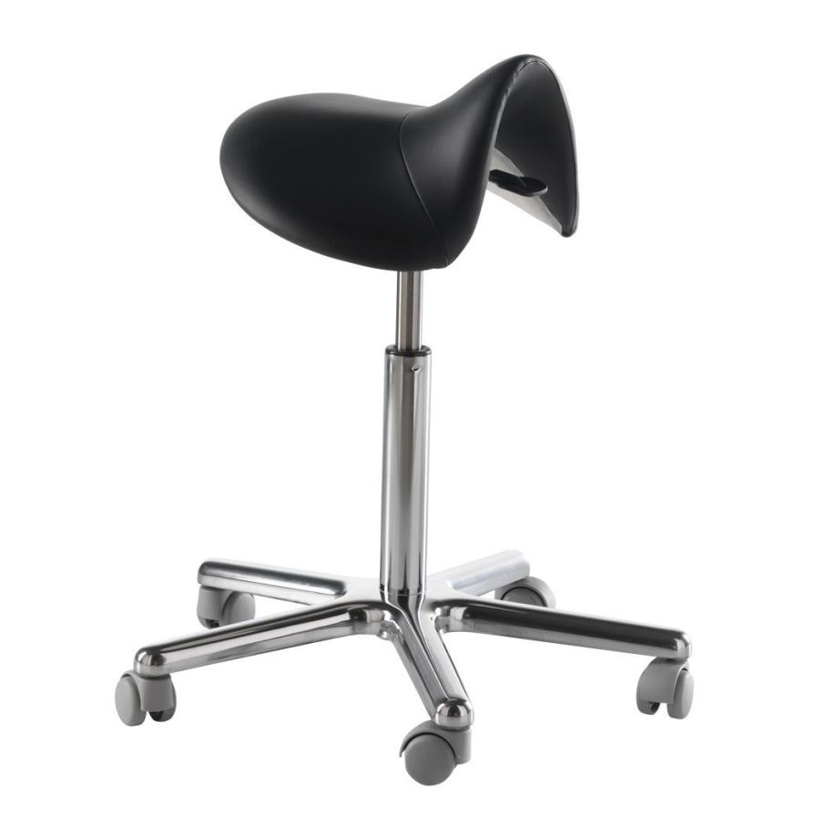 Medical stool / on casters / height-adjustable / pneumatic 052/S LEMI