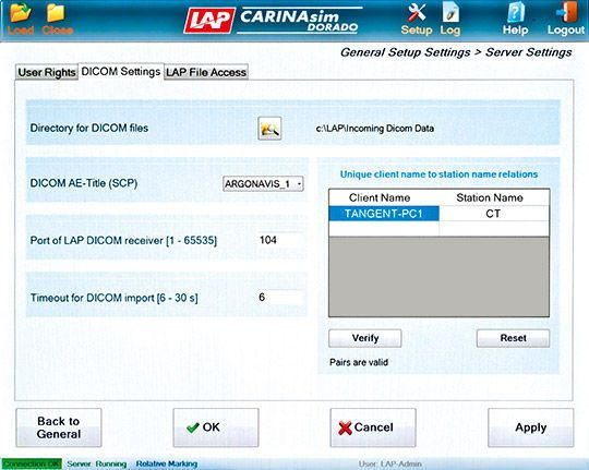 Software / simulation / planning / control / medical CARINAsim LAP Lasers