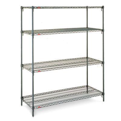 Mobile shelving unit / open-structure / 3-shelf Super Erecta Metroseal 3™ InterMetro B.V.