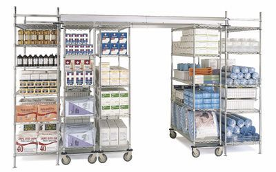 Floor track shelving unit Super Erecta InterMetro B.V.