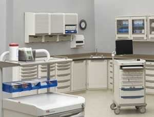 Healthcare facility worktop / with storage unit InterMetro B.V.