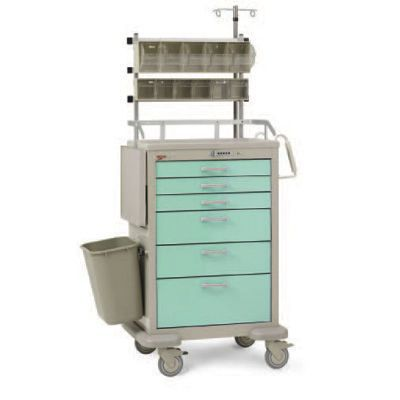 Anesthesia trolley / multi-function / with drawer / with IV pole Basix InterMetro B.V.