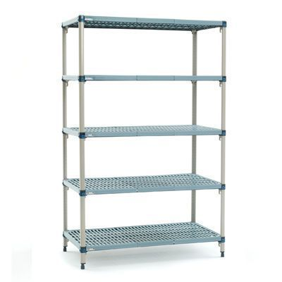 Mobile shelving unit / modular / wire / 3-shelf MetroMax Q™ InterMetro B.V.