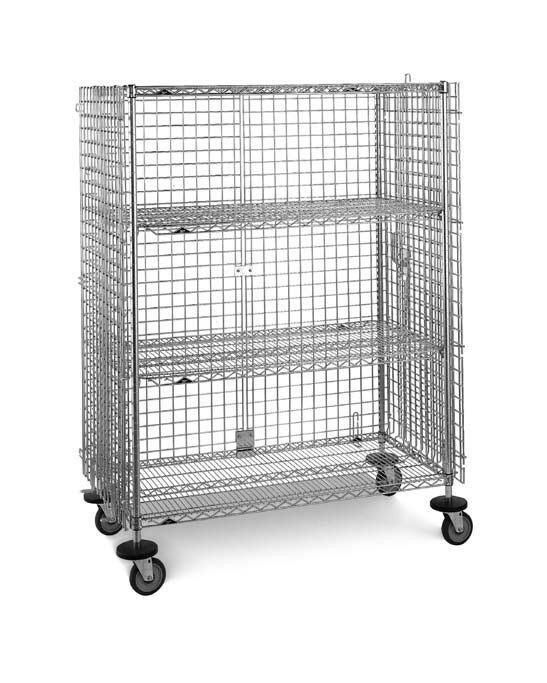 Mobile shelving unit / wire / 3-shelf qwikSlot InterMetro B.V.