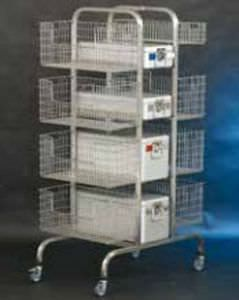 Transport trolley / for sterilization basket / open-structure CHKW 8 Hammerlit