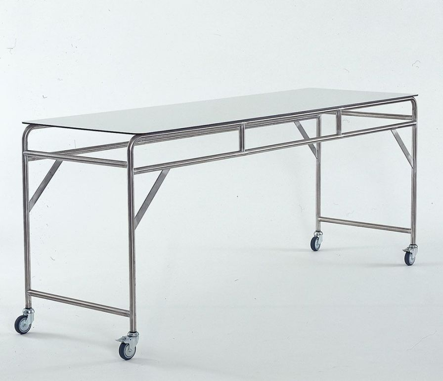 Stainless steel instrument table / on casters / 1-tray HL-MTR3F Hammerlit