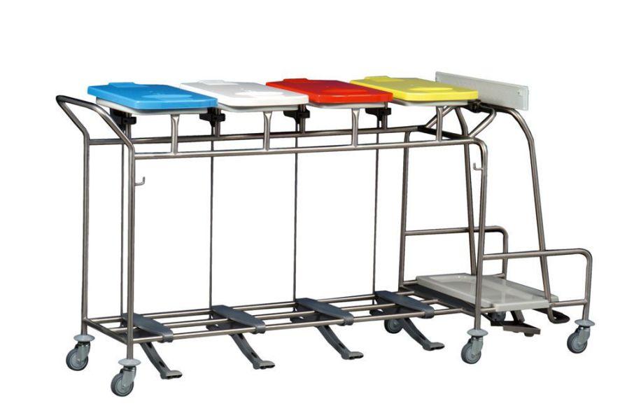 Linen trolley / waste / 5 bags WU 475LT Hammerlit