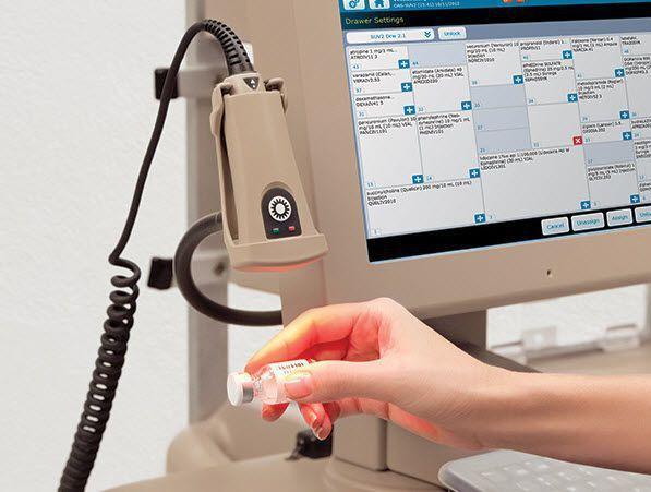 Medical computer cart / medicine distribution Pyxis® Anesthesia ES system CareFusion