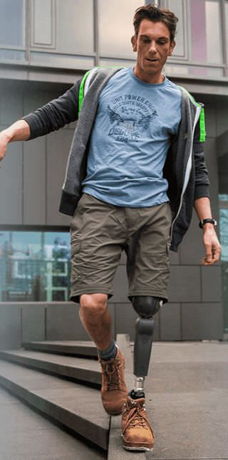 Prosthetic knee joint (lower extremity) / with stance control / microprocessor controlled / single-axis RHEO KNEE® 3 Össur