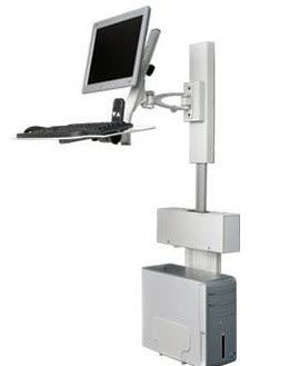 Medical computer workstation / wall-mounted / height-adjustable POC-ECOW1 ISE Group