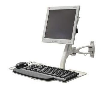 Medical monitor support arm / wall-mounted / with keyboard arm POC-COMBO1-W ISE Group