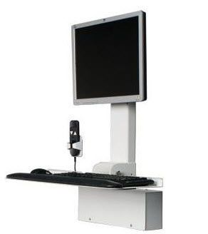 Medical computer workstation / height-adjustable / wall-mounted POC-ECOW3 ISE Group