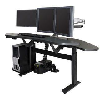 Medical computer workstation / radiology / for PACS / height-adjustable ISE Group